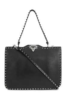 VALENTINO Rockstud Noir leather shoulder bag