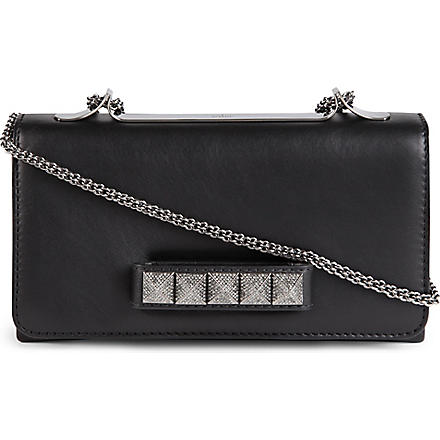 VALENTINO Vavavoom leather clutch (Black
