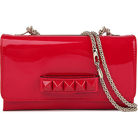 VALENTINO Vavavoom leather clutch (Red