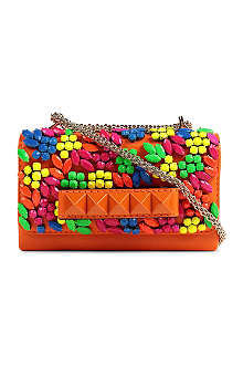 VALENTINO Va Va Voom leather clutch