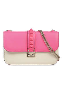 VALENTINO Rockstud large leather shoulder bag