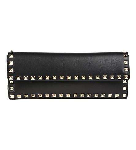 VALENTINO Bracelet stud clutch (Black