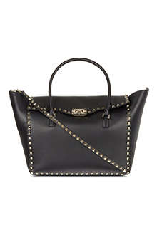 VALENTINO Double handle rockstud bag