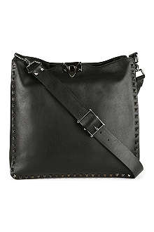 VALENTINO Studded leather hobo