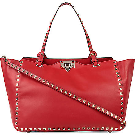 VALENTINO Rockstud large tote (Red