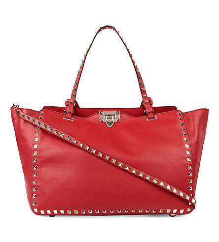 VALENTINO Rockstud medium tote (Red