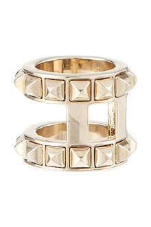 VALENTINO Double barrel studded ring