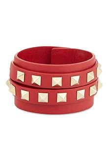 VALENTINO Double wrap stud bracelet