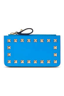 VALENTINO Studded zip card holder
