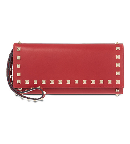 VALENTINO Rockstud wristlet clutch (Red