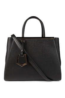 FENDI 2Jours small saffiano leather tote