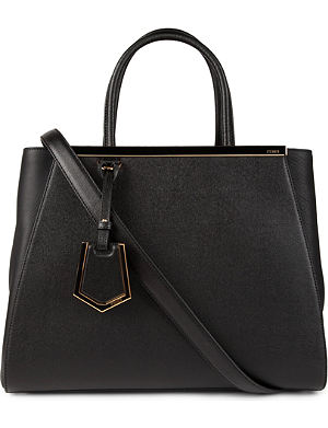 FENDI 2Jours small saffiano leather tote