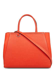 FENDI 2jour small saffiano leather tote