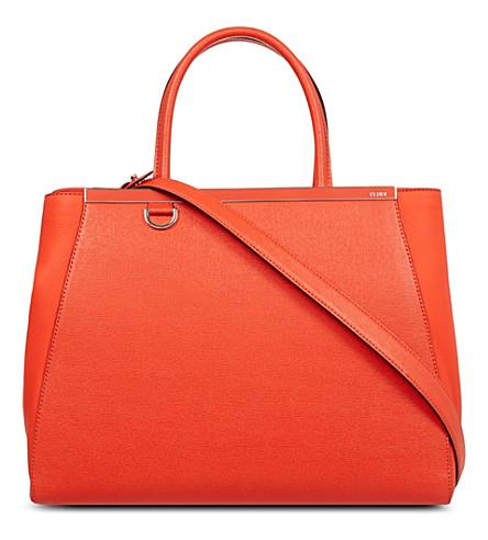 FENDI 2jour small saffiano leather tote (Poppy