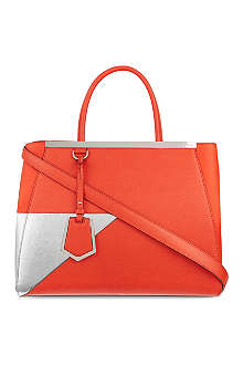 FENDI 2jour silver patch tote