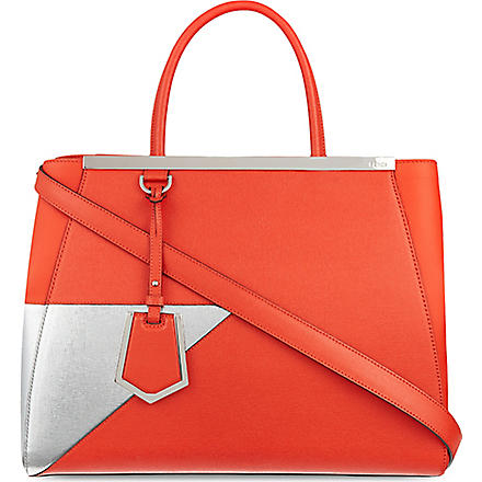 FENDI 2jour silver patch tote (Red