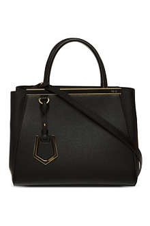 FENDI 2Jour mini saffiano leather tote