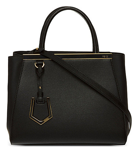 FENDI 2Jours mini leather tote (Black