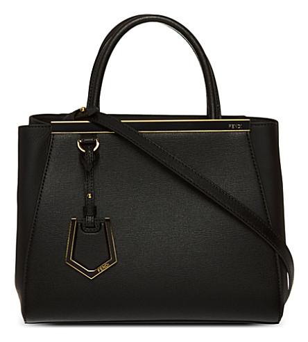 FENDI 2Jours mini leather tote (Black