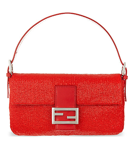 FENDI Baguette beaded shoulder bag (Poppy