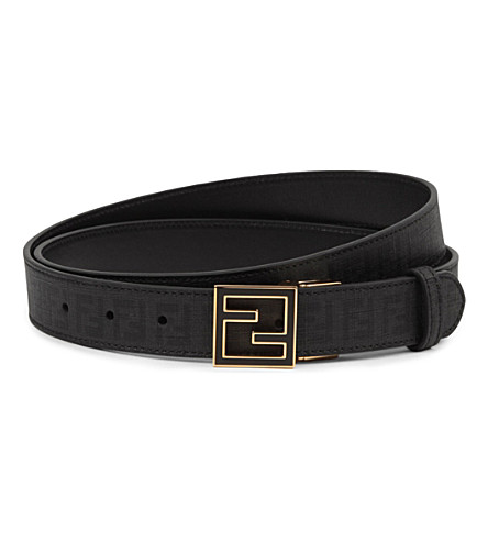 FENDI Zucchino buckle belt (Black