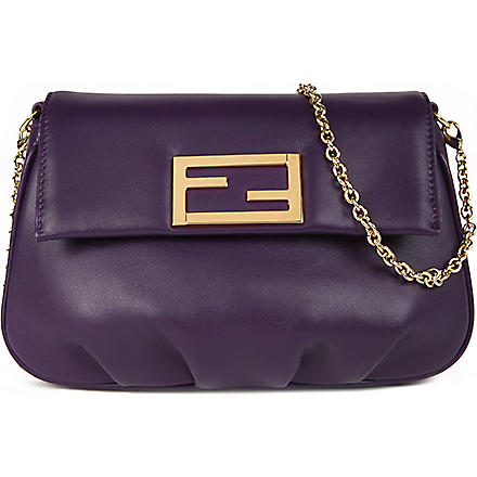 FENDI Fendista leather pouch (Purple