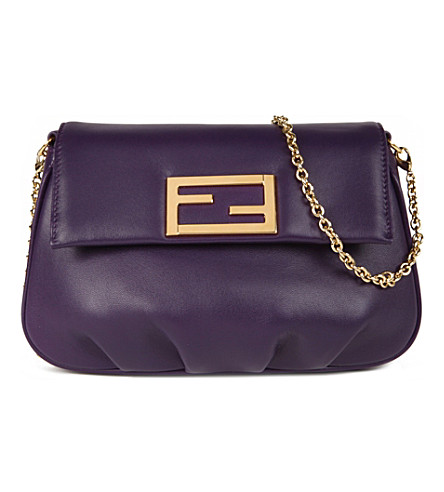 FENDI Fendista leather pouch (Purple
