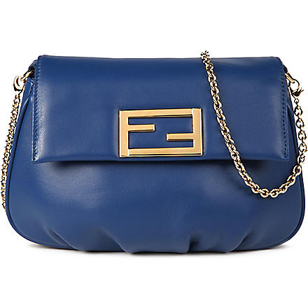 FENDI Fendista leather pouch (Blue