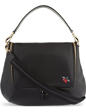 ANYA HINDMARCH Maxi Zip cherry satchel