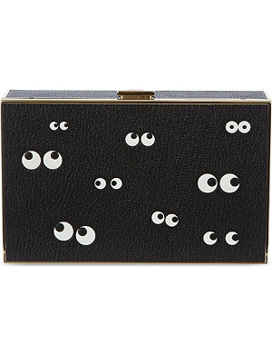 ANYA HINDMARCH Imperial nocturnal grained-leatherbox clutch