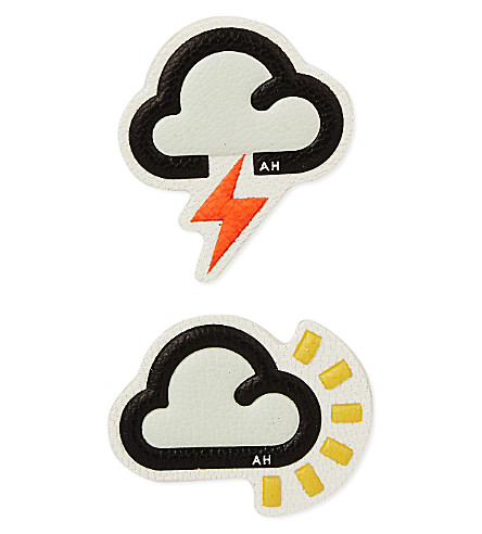 ANYA HINDMARCH Weather leather sticker (Silver