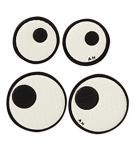 ANYA HINDMARCH Eyes leather sticker Selfridgescom