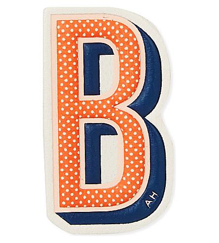 ANYA HINDMARCH B leather sticker (Chalk