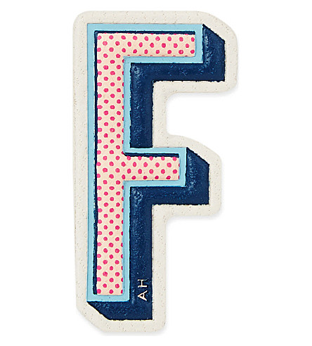 ANYA HINDMARCH F leather sticker (Chalk