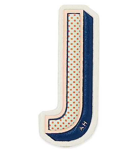 ANYA HINDMARCH J leather sticker (Chalk