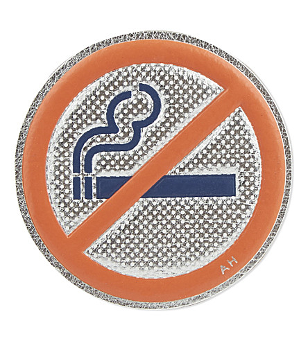 ANYA HINDMARCH No smoking leather sticker Selfridgescom