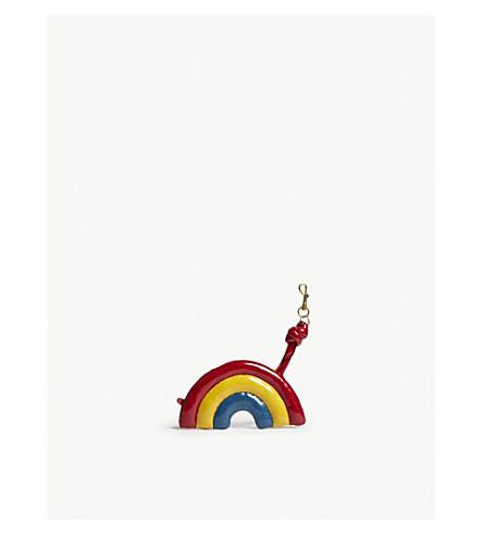 ANYA HINDMARCH Chubby rainbow bag charm (Multi+naplak