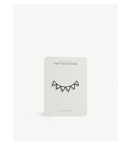 Monster teeth leather sticker