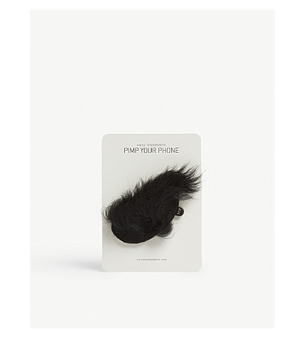 ANYA HINDMARCH Shearling sticker (Black+shearling