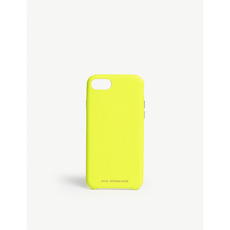 ANYA HINDMARCH Neon leather iPhone 7/8 case