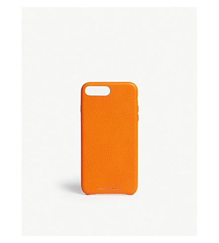 ANYA HINDMARCH Neon leather iPhone 7/8 Plus case (Neon+orange