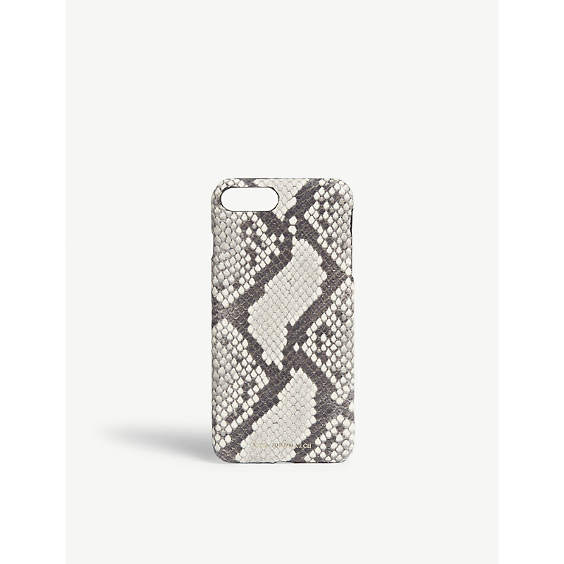 ANYA HINDMARCH Snake-embossed leather iPhone 7/8 Plus case