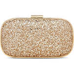 ANYA HINDMARCH Marano glitter–embellished framed clutch