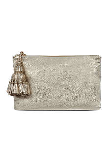 ANYA HINDMARCH Georgiana metallic clutch