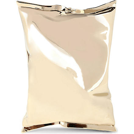 ANYA HINDMARCH Crisp packet clutch (P.gld+metal