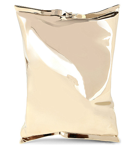 ANYA HINDMARCH Crisp packet clutch (P.gld metal