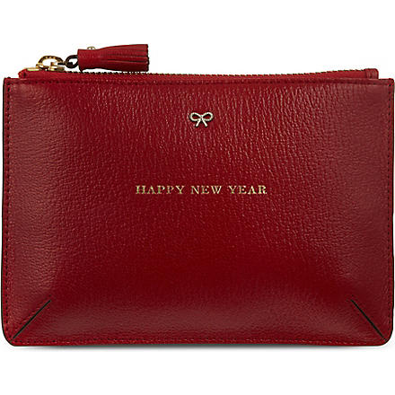 ANYA HINDMARCH Happy New Year pouch (Red