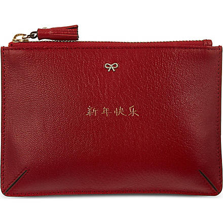 ANYA HINDMARCH Leather pouch (Red