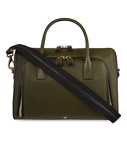 ANYA HINDMARCH Maxi leather tote (Olive