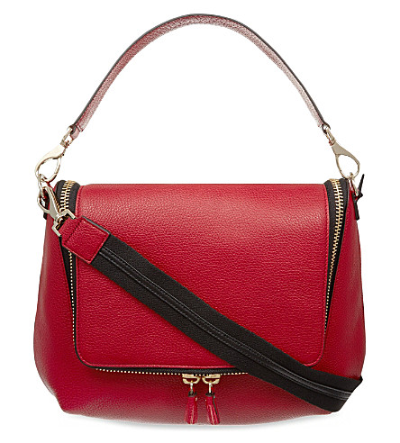 ANYA HINDMARCH Maxi zipped leather satchel (Red